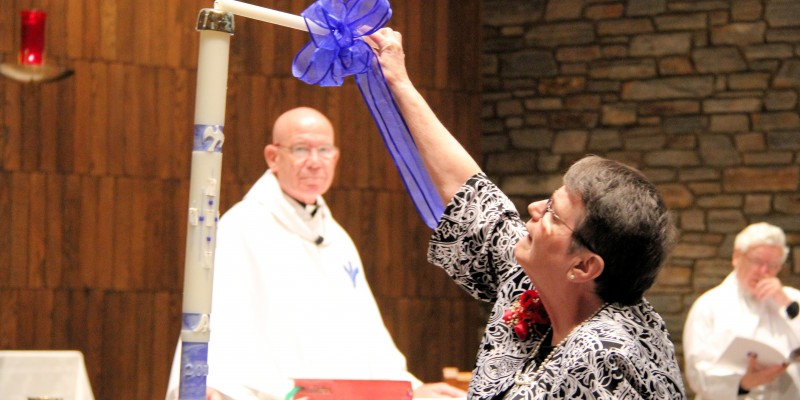 Sisters of Bon Secours celebrate nun's final vows.