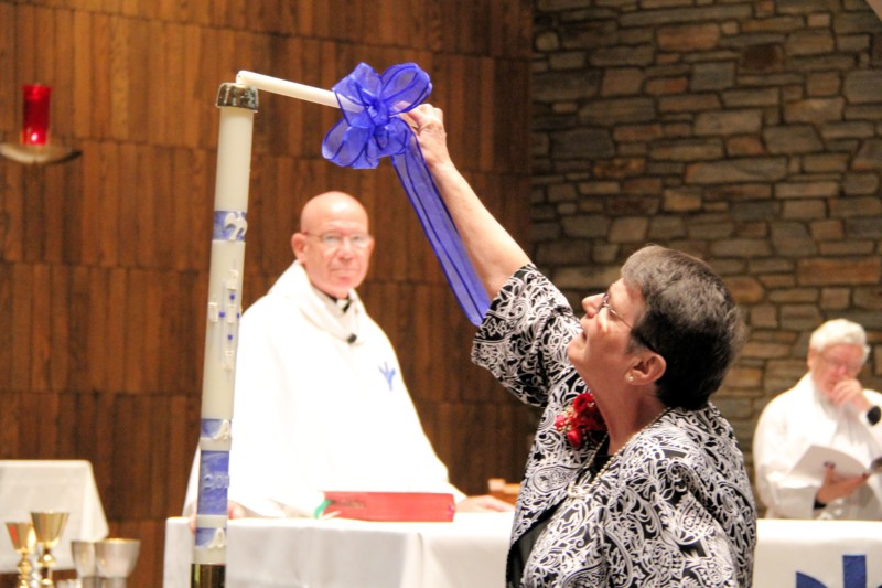 Sisters of Bon Secours celebrate nun's final vows.