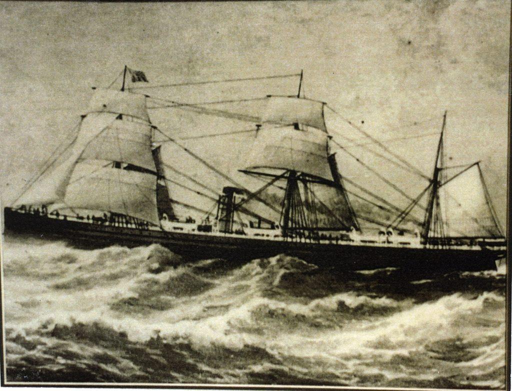 Parthia in rough seas