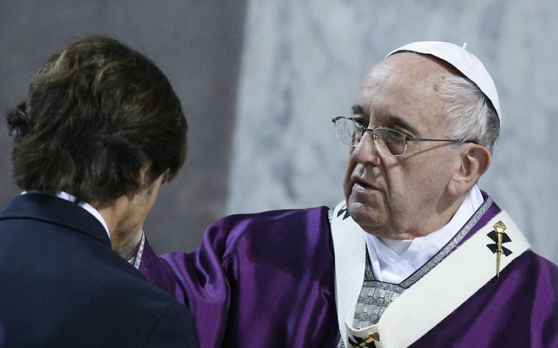 Pope Francis ashes Lent